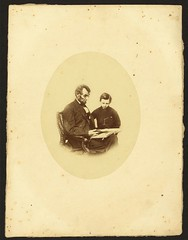 [Abraham Lincoln, U.S. President, looking at a photo album with his son, Tad Lincoln, Feb. 9, 1864] (LOC) | by The Library of Congress