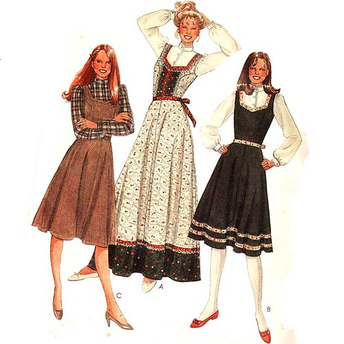 Vintage 1980's peasant corset dress sewing pattern | Flickr