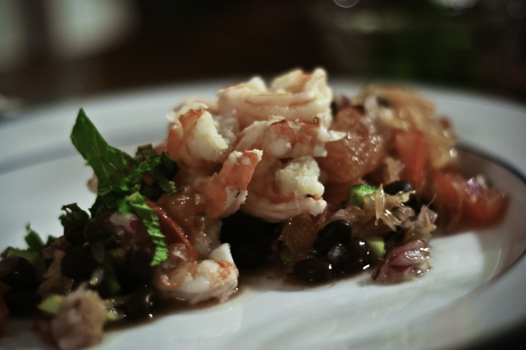 Wild-caught Shrimp with Black Bean and Grapefruit Salsa | Flickr