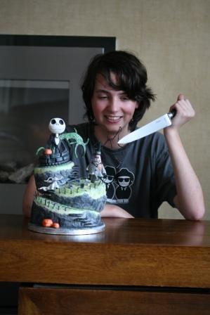 Nightmare Before Christmas Birthday Cake Topsy Turvy Wonky