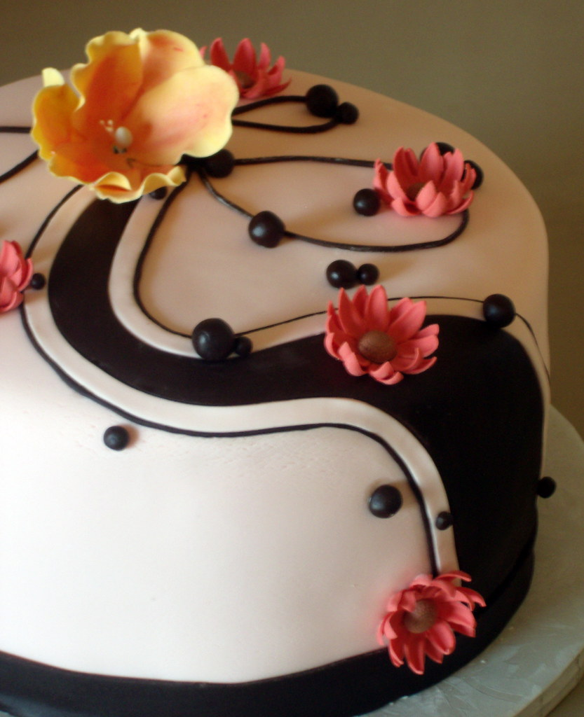 Cake Design For Moms : Mother s Birthday Cake with chocolate swirls We made ...