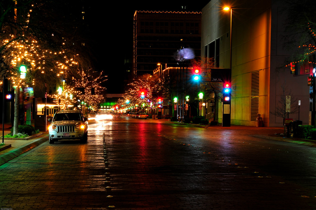Downtown Fort Worth Texas Night Almost Completely