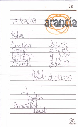 Handwritten Bill March 2009 At Arancia London Se16 Flickr