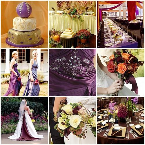 Fall Wedding Board Dramatic Purple Amp Orange