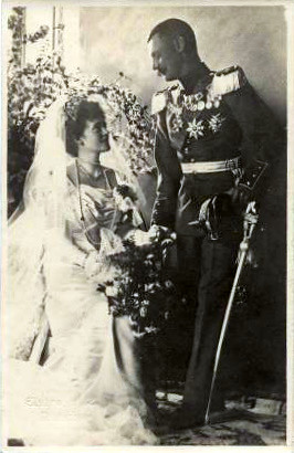 Hochzeitsfoto Prinz Rupprecht von Bayern mit Prinzessin Ma ...