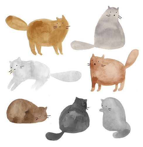 cats, cats, cats, I love cats. | by Clare Owen Illustration