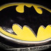 batman logo cake