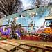 BRUSSELS,BELGIUM -FEBRUARY 17: Colorful graffiti street art urban on february 17, 2014 in Brussel, Belgium.