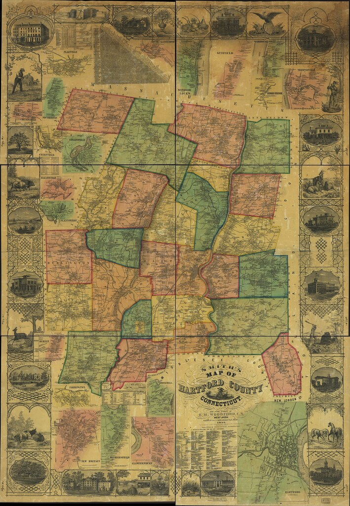 Smith39s Map Of Hartford County Connecticut  Full Quality