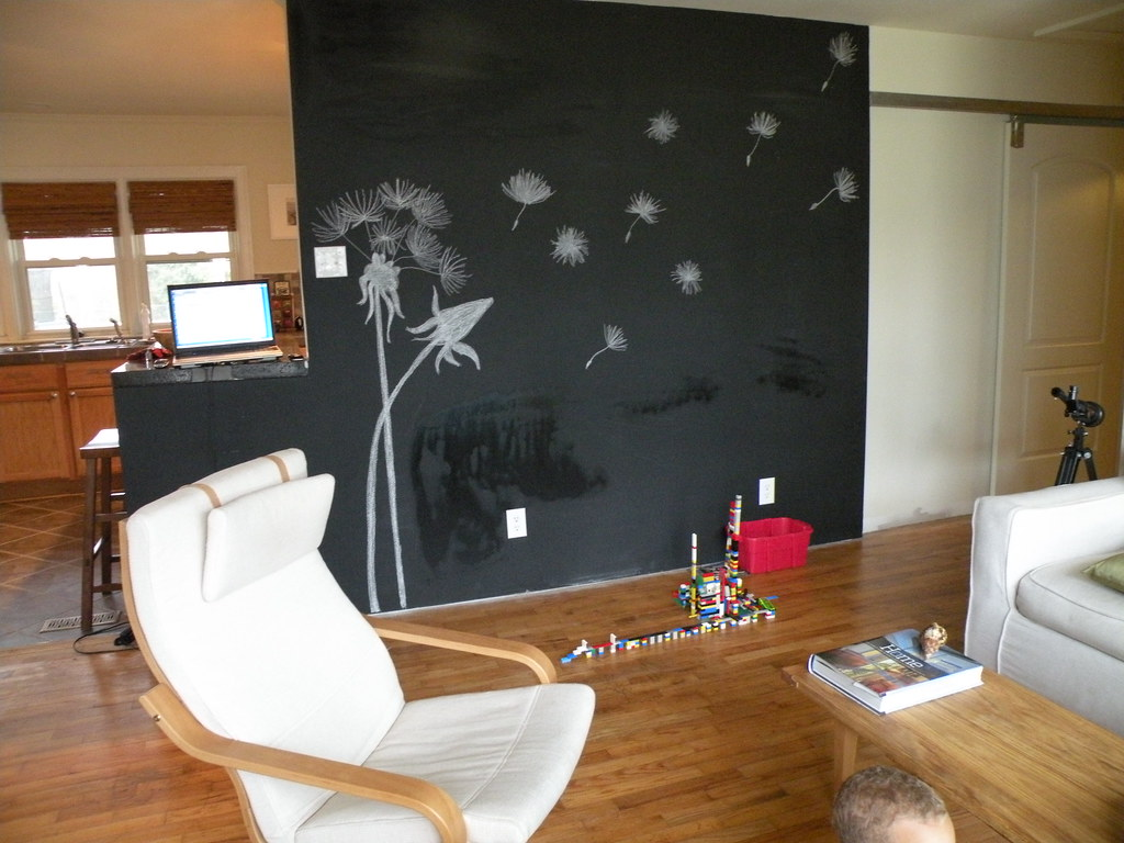 chalkboard in living room chalkboard wall we painted this wall in our living room 14798