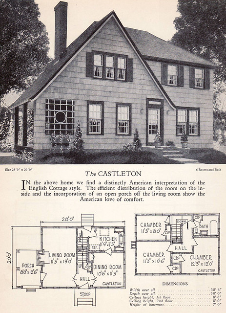 1928 home builders catalog the castleton from the American home builder