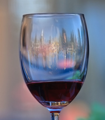 Through a wine glass. | by dicktay2000