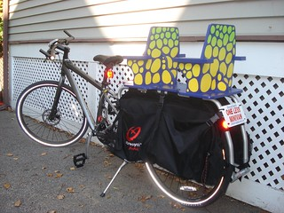 Xtracycle free radical extension and two-kid seat | by carfreewithkids