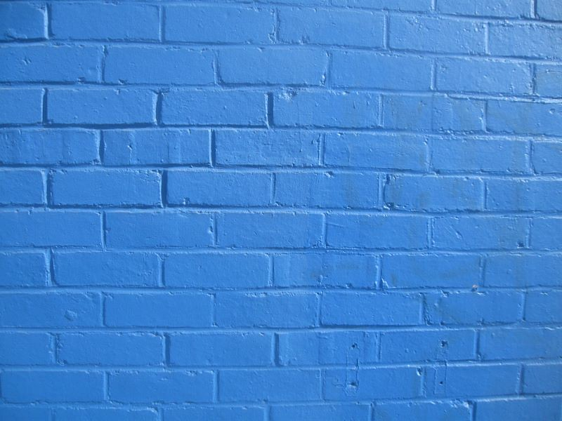 Cool white and blue background - Blue Brick Wall Colin Campbell Flickr