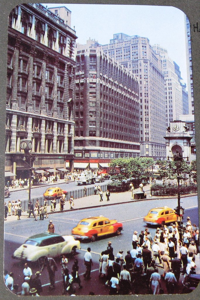 New York City Herald Square 1951 Checker Cab Is