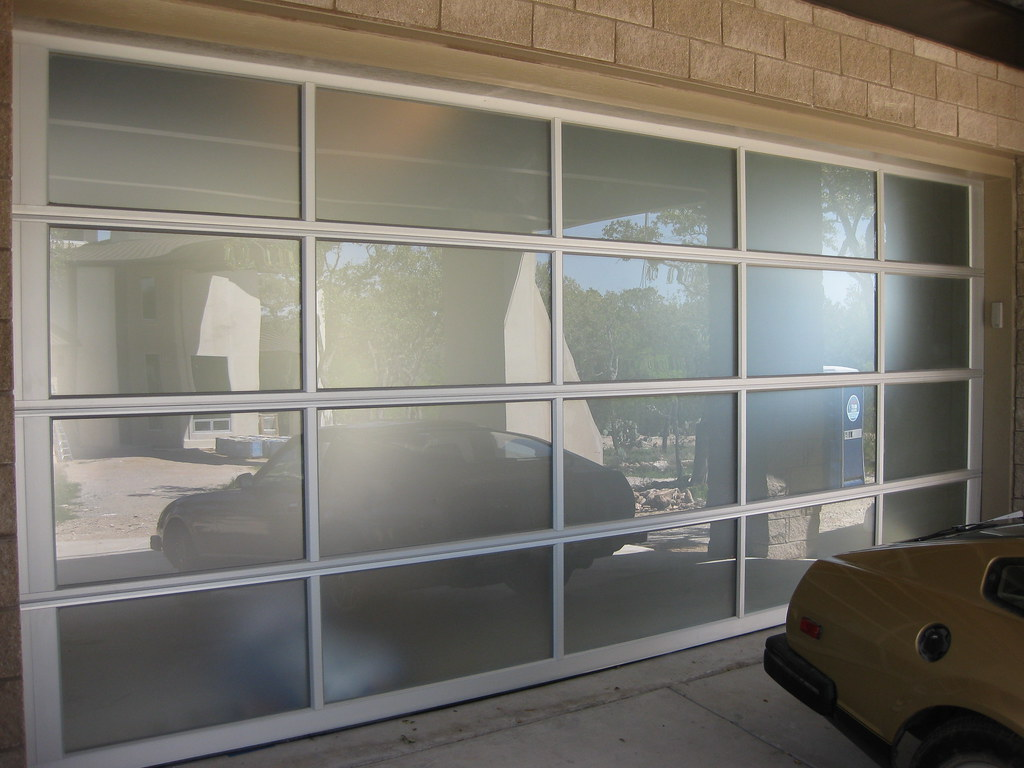 Plexi Glass Doors : Contemporary frosted glass garage door a