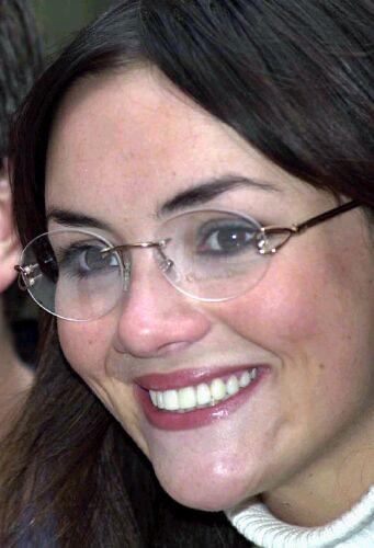 "Martine McCutcheon - previous winner of ""Glasses Wearer of ... Catherine Zeta Jones"