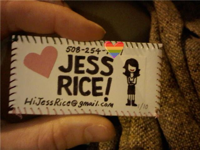 Homemade business cards! 1/10 | Jess Rice | Flickr