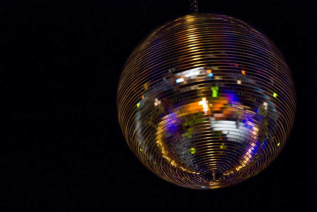 Disco Ball Room Blue Lights
