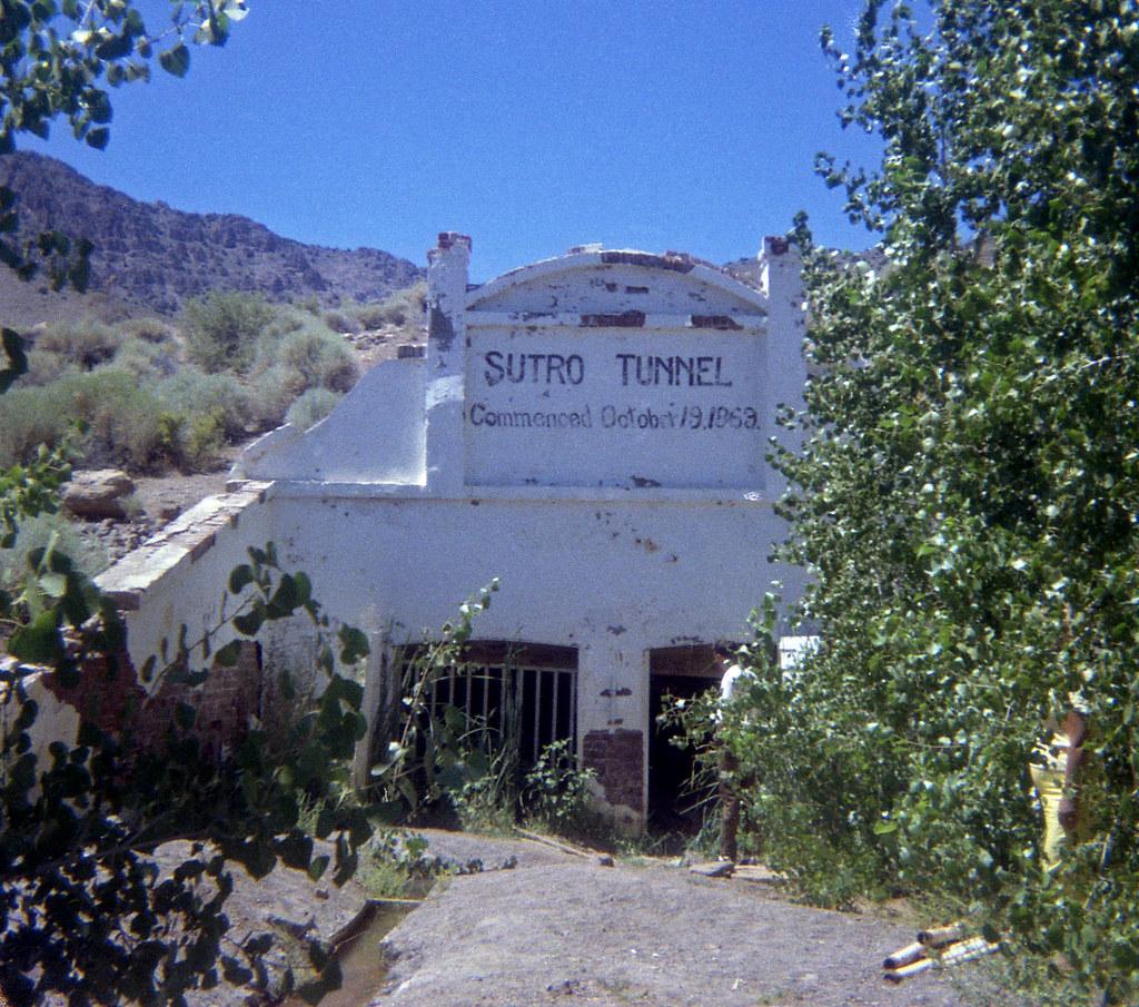 Sutro Tunnel, Nevada 1969 | Entrance Portal to Sutro ...
