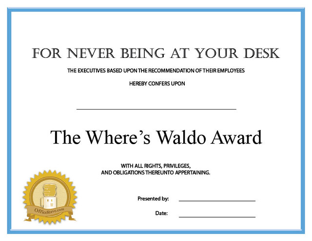 funny employee certificates