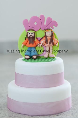 Hippy Love Wedding Cake