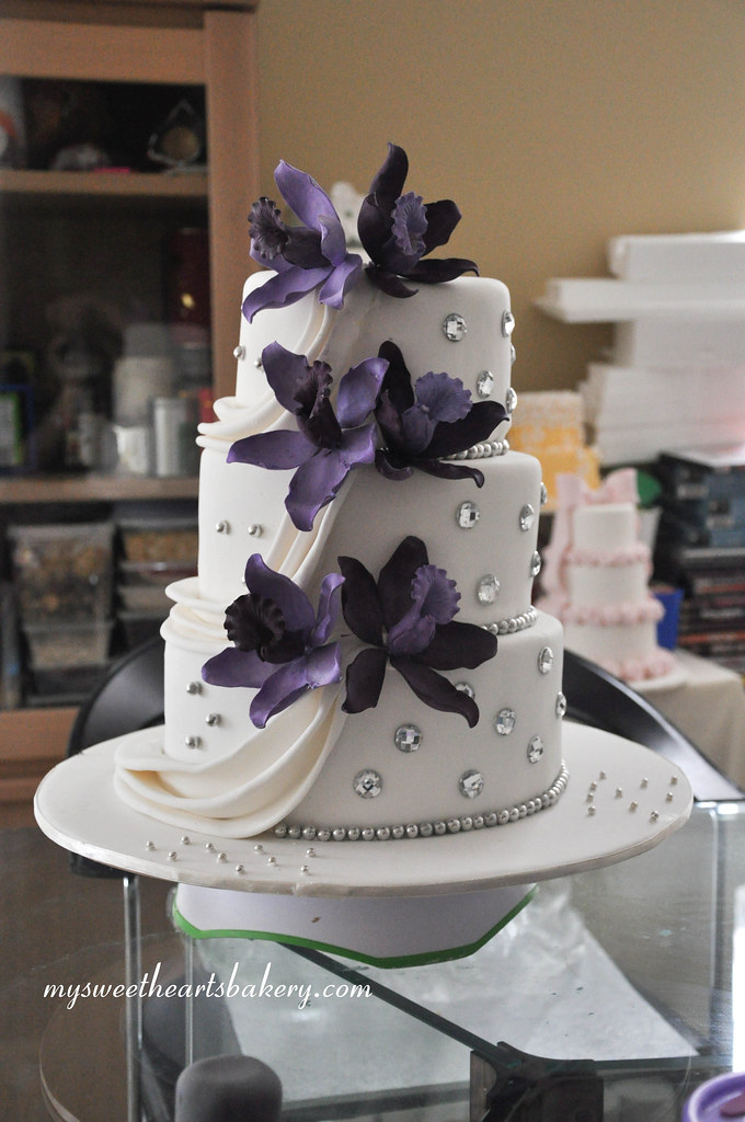 Purple Orchid Cake Decorations
