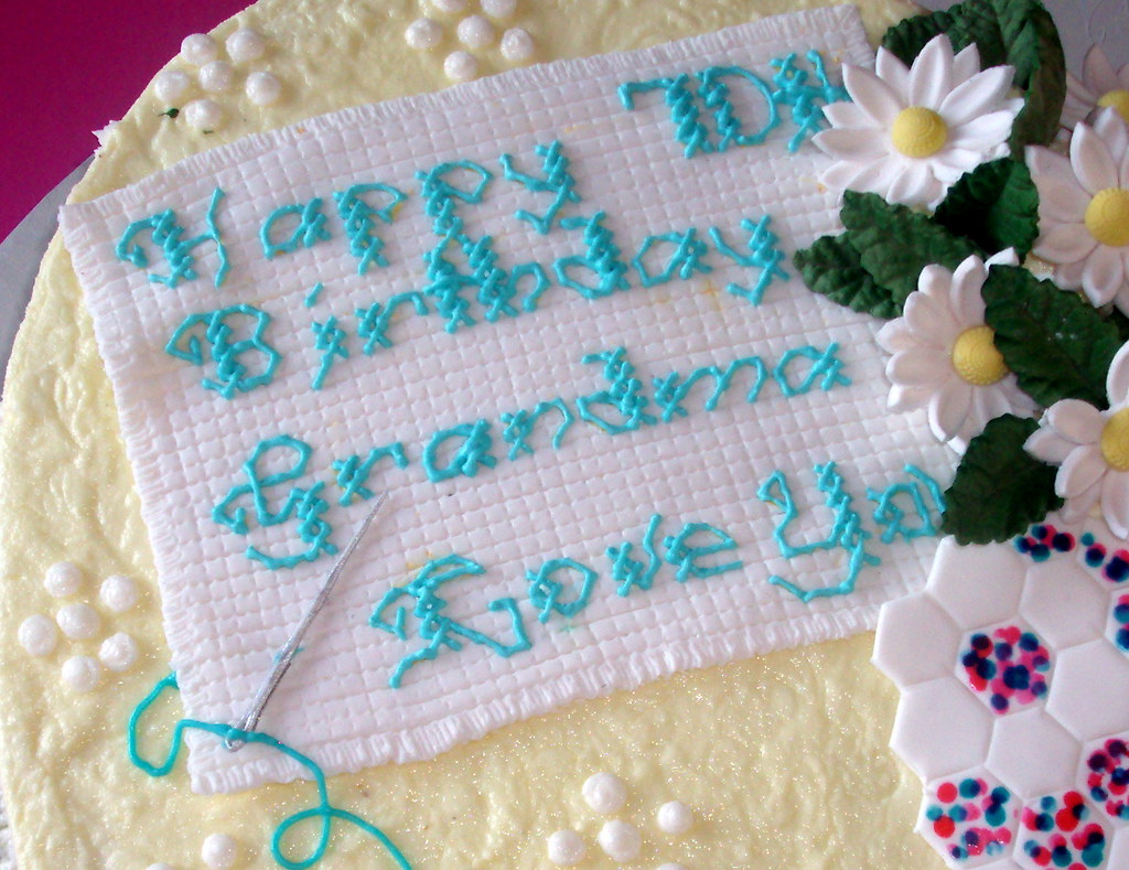 Cross Stitch Design On Quilt Cake Quilt Cake For A 70th