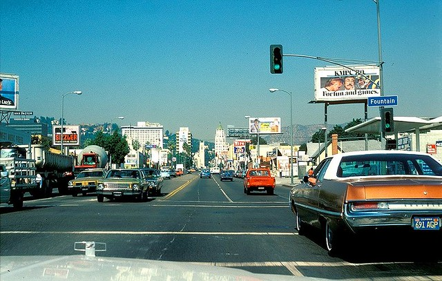 Fountain & Highland 1979 | Driving North on Highland Ave at
