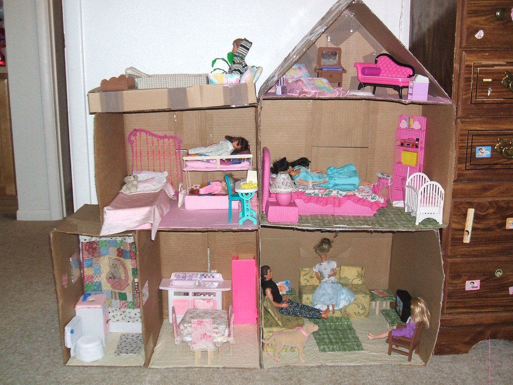 Design Homemade Doll Houses homemade barbie doll house this was made by flickr