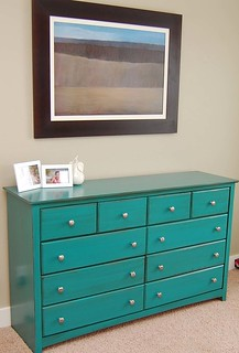 turquoise dresser | by meringuedesigns
