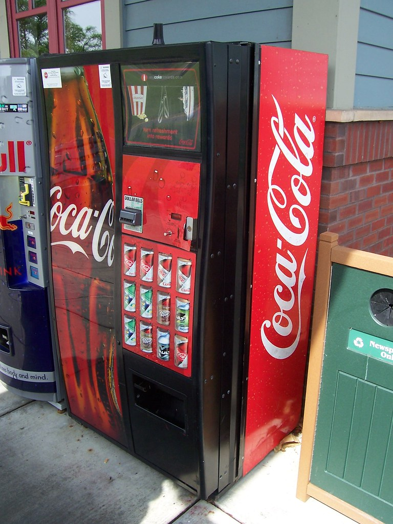 coca cola new vending machine case study solution The decline of 'big soda from the three largest soda makers — coca-cola citywide have changed their vending machine offerings.