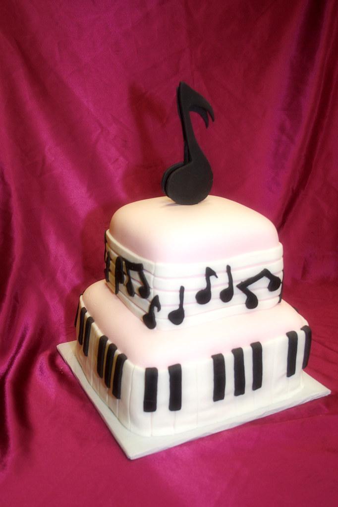 Music Note Cake Be My Cupcake Makes Wedding Cakes