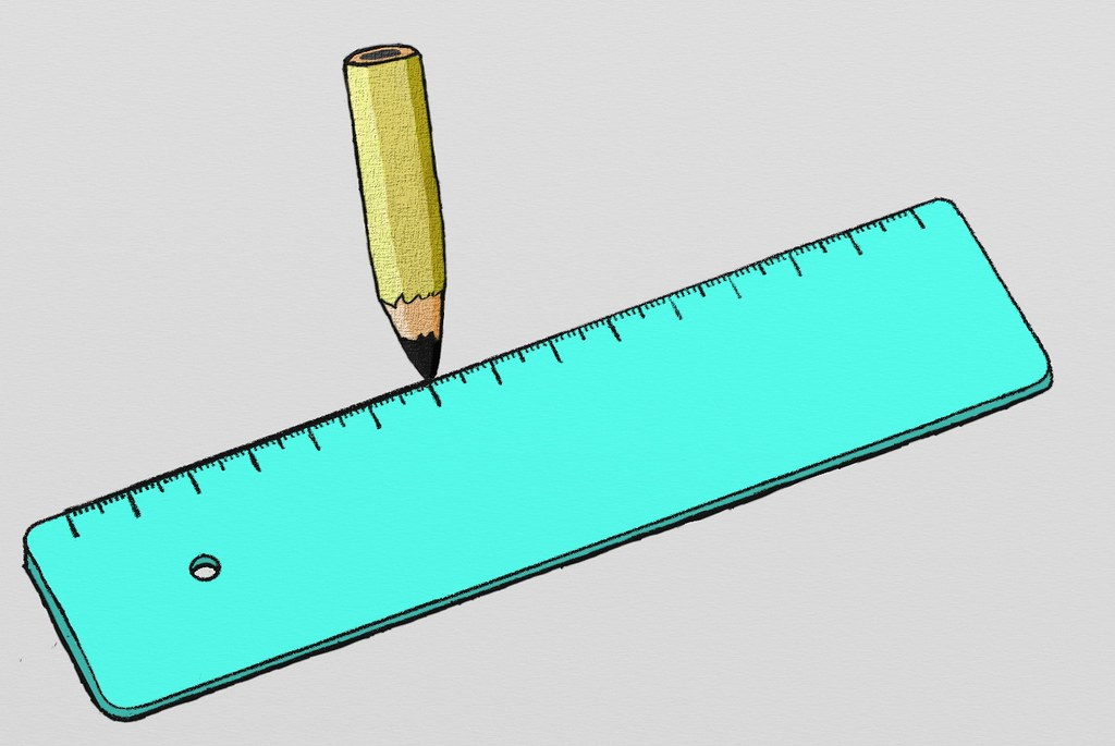 how to draw a straight line with a ruler