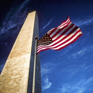 USA - Washington DC - Washington Monument & flag | by Darrell Godliman