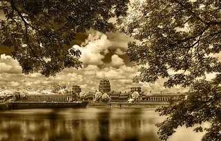 The ruins of Angkor from across the moat | by Stuck in Customs