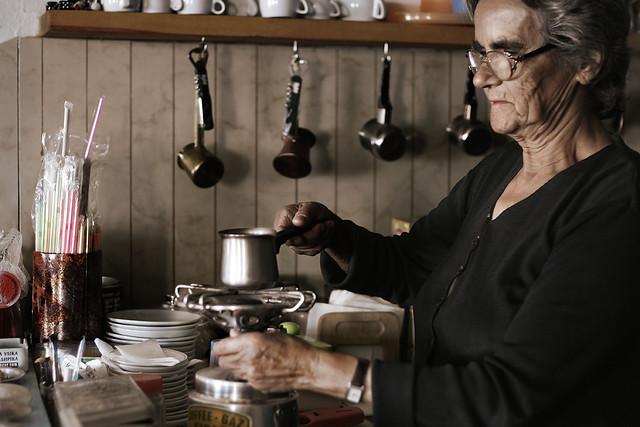 people  greece  crete  mama making greek coffee in the kaf u2026