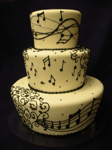 Cake Design Musical Notes : MUSICAL NOTES CAKE Flickr - Photo Sharing!