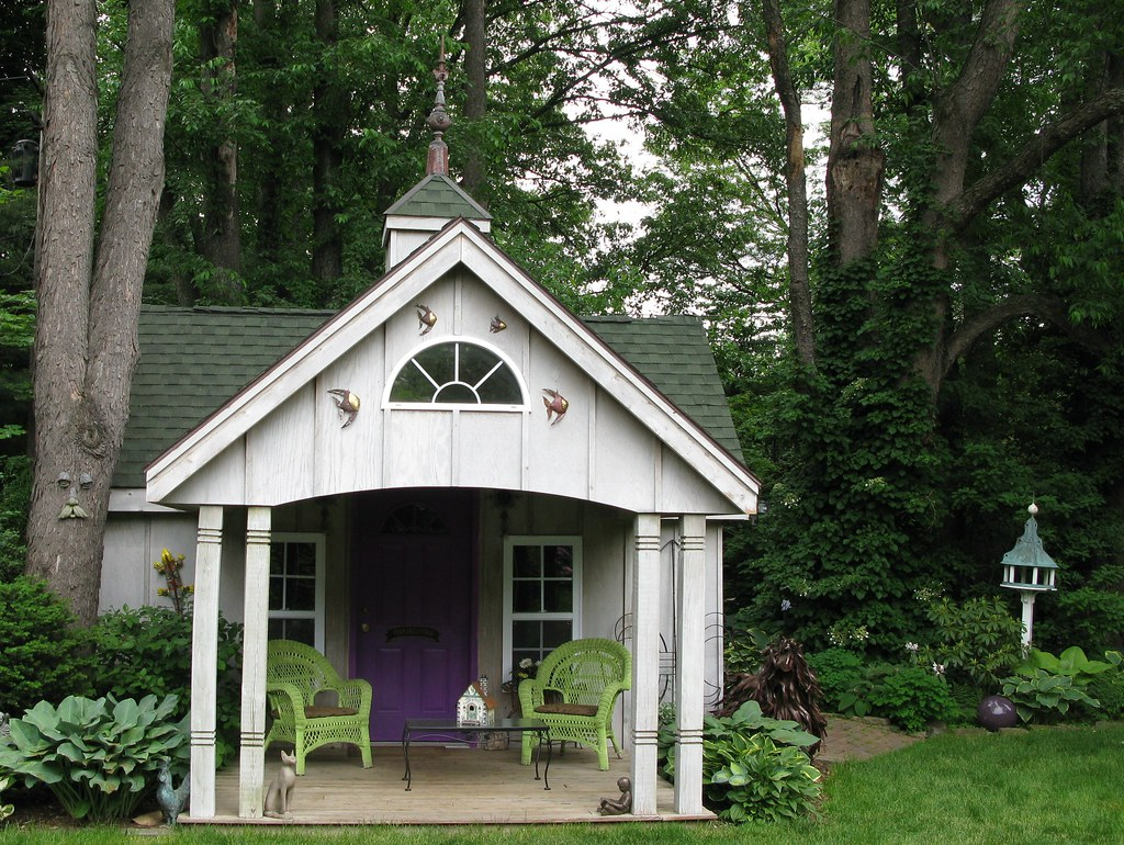 Garden shed mi garden club tour sunshine syrie flickr - Garden sheds michigan ...