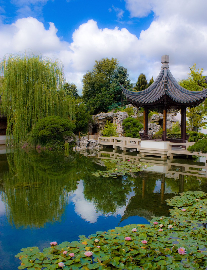 Chinese Garden A Photo From Guangdong South: Portland Classical Chinese
