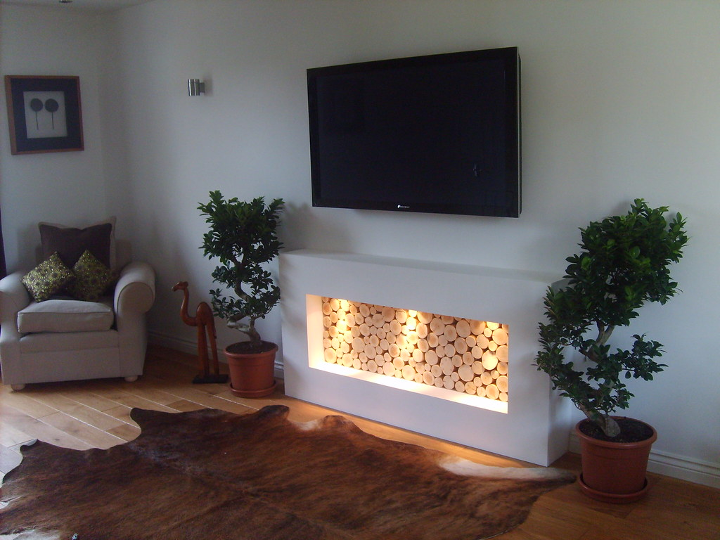 Decorative Logs Contemporary Fireplace Our Logs In Situ In Flickr