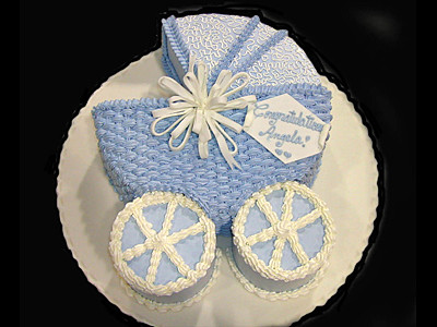 Baby Cake With Carriage