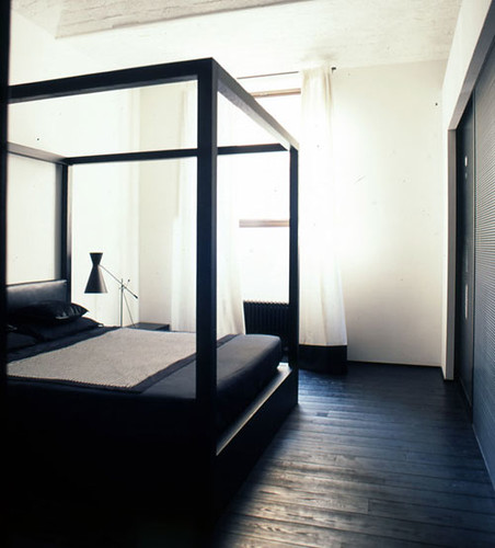 black floor white walls by b arch via style files i don flickr. Black Bedroom Furniture Sets. Home Design Ideas