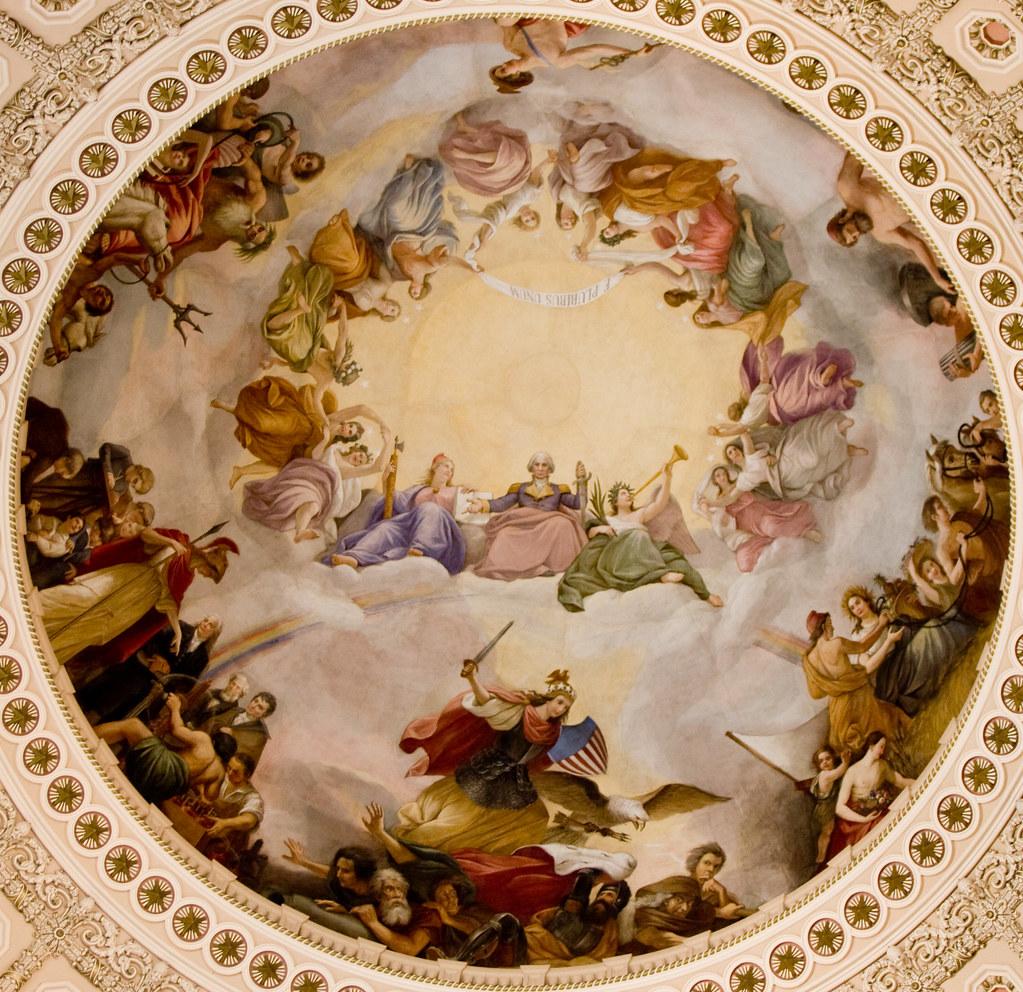 Apotheosis Of George Washington Brumidi S Apotheosis Of