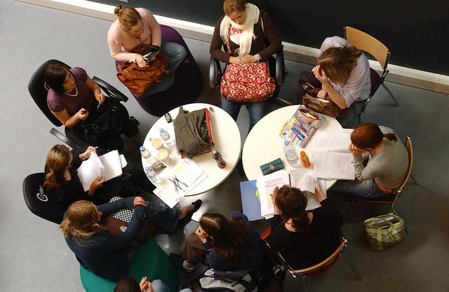 Brunel University student study group.