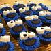 Cookie monster cupcakes 2