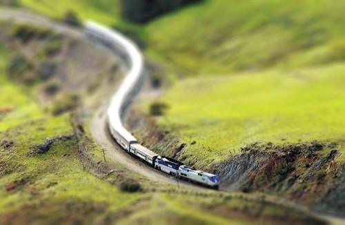 Tilt shift train | by JoshMock