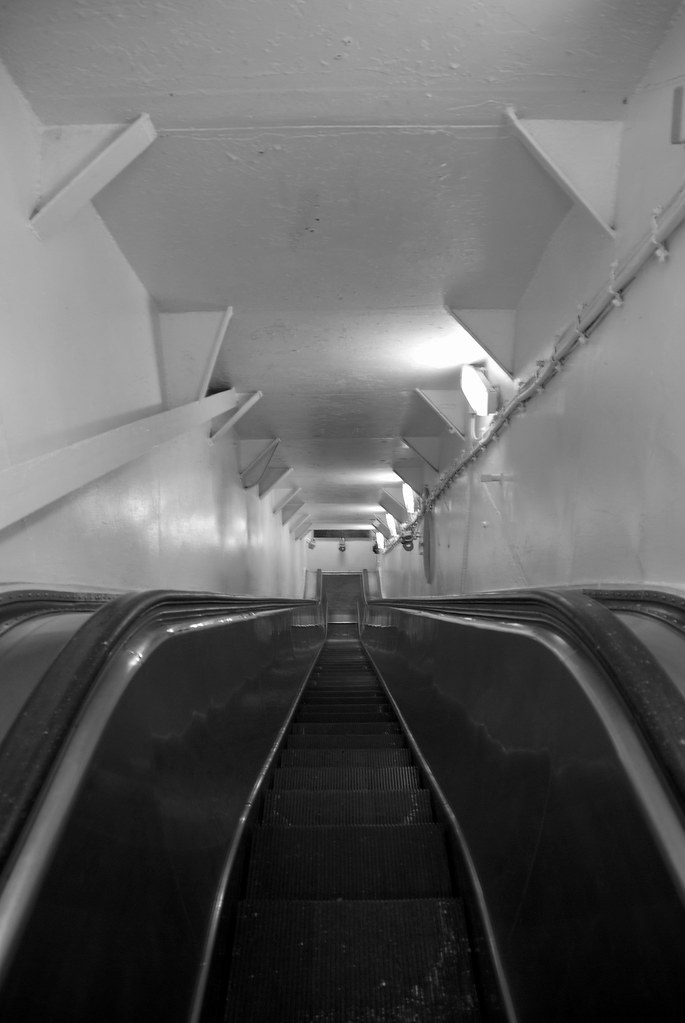 uss yorktown escalator