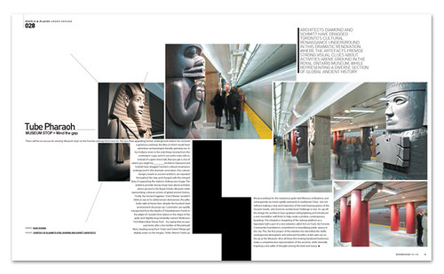 Tube pharaoh canada subway modern design magazine novem for Free architecture magazines