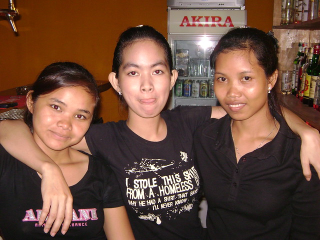 Cambodian Girls In The Siem Reap Night Bar  Flickr -8565